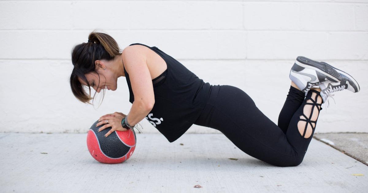 5 вправ з медболом для збільшення сили і витривалості