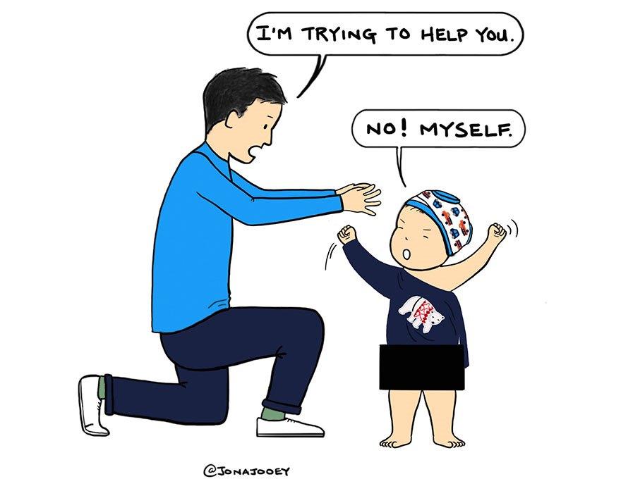 10 забавних зображень, які доводять верховенство дитини над вами